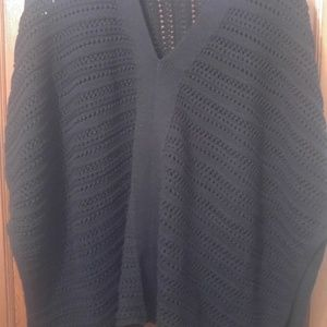 Womens GAP Crochet/Knit Poncho XXS